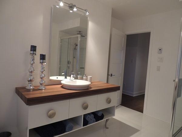 Vanité salle de bain contemporain maison modèle Lachute ...